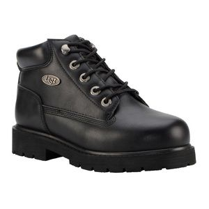 Womens Lugz Drifter Mid Steel Toe Chukka Boots BLACK